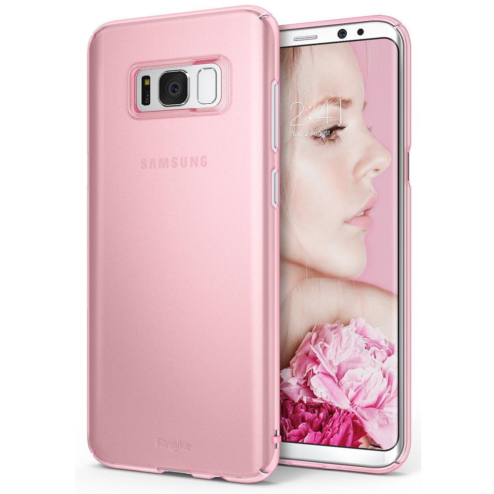 Samsung Galaxy S8 Plus Case, Ringke [SLIM Series] Dazzling Slender [Laser Precision Cutouts] Fashionable & Classy Superior Steadfast Bolstered PC Hard Skin cover - Frost Pink