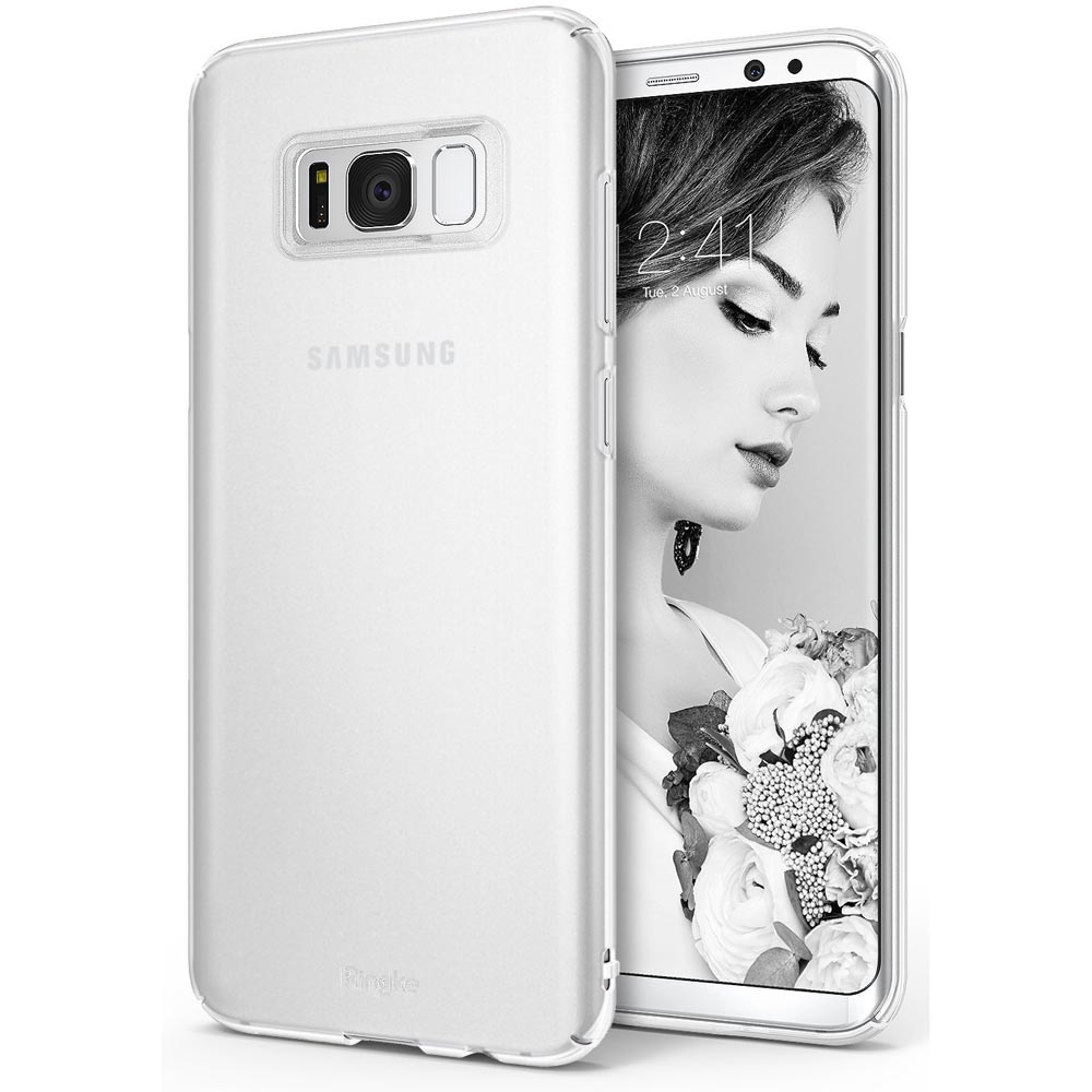 Samsung Galaxy S8 Plus Case, Ringke [SLIM Series] Dazzling Slender [Laser Precision Cutouts] Fashionable & Classy Superior Steadfast Bolstered PC Hard Skin cover - Frost White