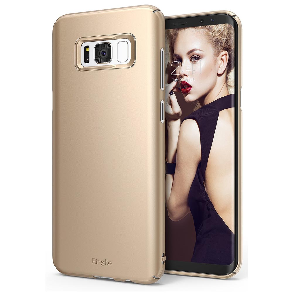 Galaxy S8 Plus Case, Ringke [SLIM] Slender Laser Precision Cutouts PC Hard Skin Cover for Samsung Galaxy S8 Plus - Royal Gold