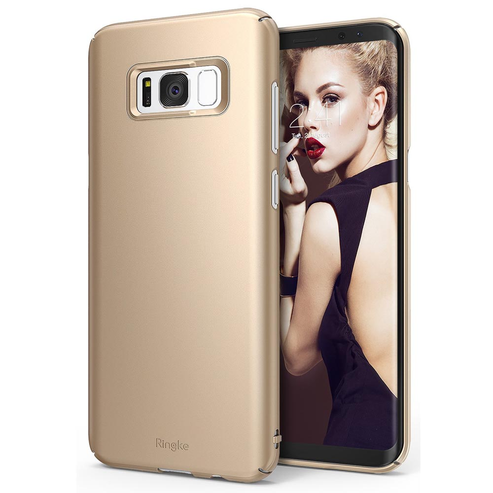 Samsung Galaxy S8 Slim Case, Ringke [SLIM Series] Dazzling Slender [Laser Precision Cutouts] Fashionable & Classy PC Hard Skin cover - Royal Gold