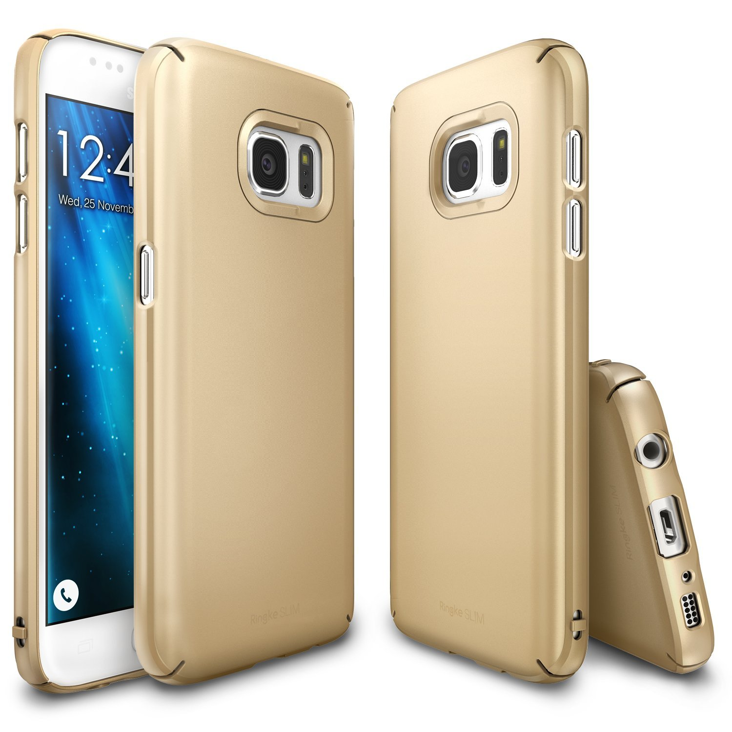 Samsung Galaxy S7 Case,Ringke [Royal Gold] SLIM Series Snug-Fit Ultra-Thin All Coverage Hard Case