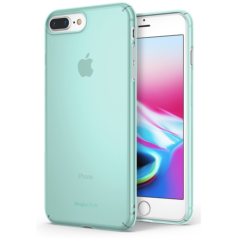 [Ringke] Apple iPhone 8 / 7 Case, [SLIM] Lightweight Thin PC Hard Shell Snug-Fit Protection Cover [Frost Mint]