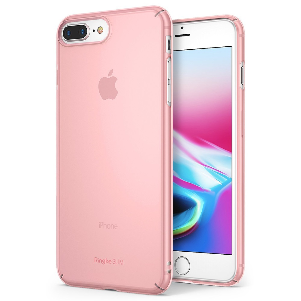 [Ringke] Apple iPhone 8 / 7 Case, [SLIM] Lightweight Thin PC Hard Shell Snug-Fit Protection Cover [Frost Pink]