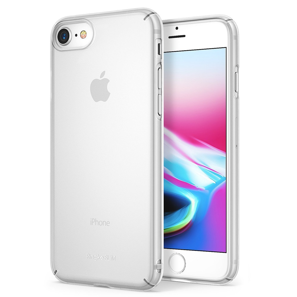 [Ringke] Apple iPhone 8 / 7 Case, [SLIM] Lightweight Thin PC Hard Shell Snug-Fit Protection Cover [Frost White]