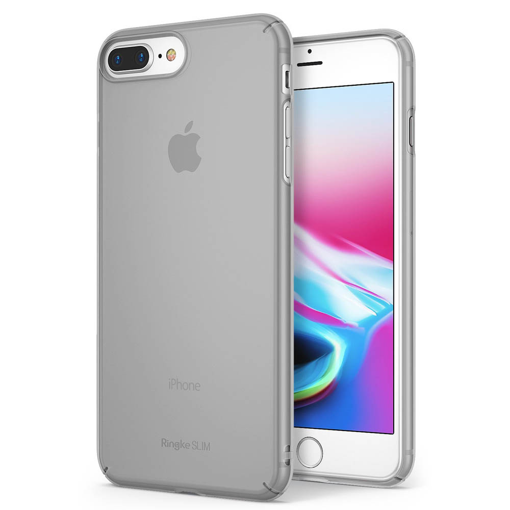 [Ringke] Apple iPhone 8 Plus / 7 Plus Case, [SLIM] Lightweight Thin PC Hard Shell Snug-Fit Protection Cover [Frost Gray]