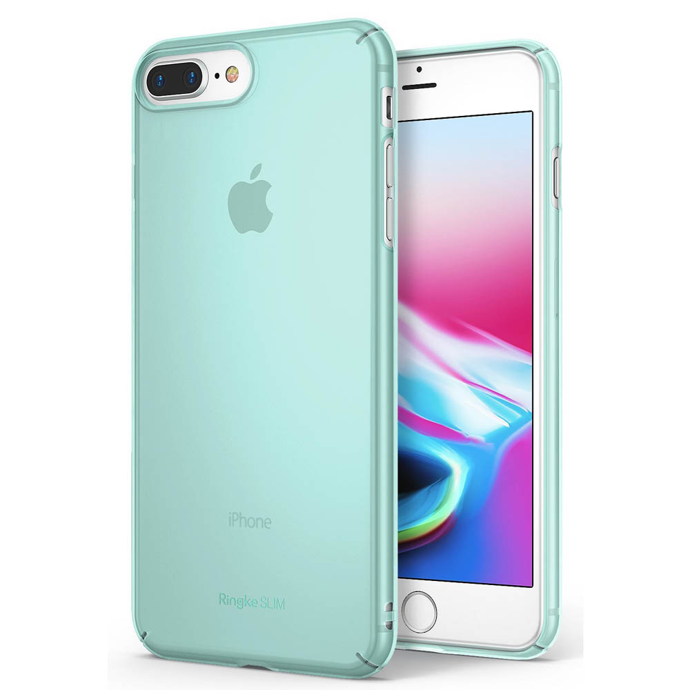 [Ringke] Apple iPhone 8 Plus / 7 Plus Case, [SLIM] Lightweight Thin PC Hard Shell Snug-Fit Protection Cover [Frost Mint]