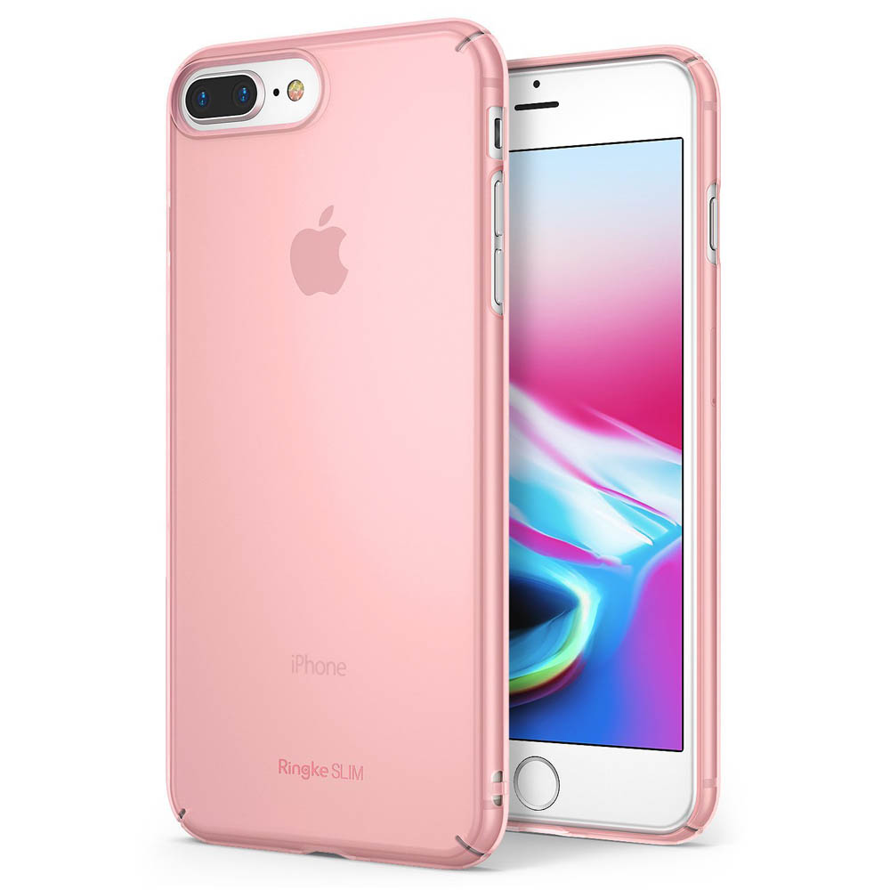 [Ringke] Apple iPhone 8 Plus / 7 Plus Case, [SLIM] Lightweight Thin PC Hard Shell Snug-Fit Protection Cover [Frost Pink]