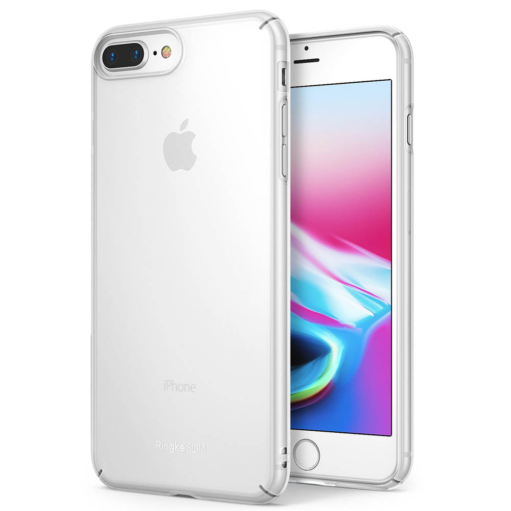 [Ringke] Apple iPhone 8 Plus / 7 Plus Case, [SLIM] Lightweight Thin PC Hard Shell Snug-Fit Protection Cover[Frost White]
