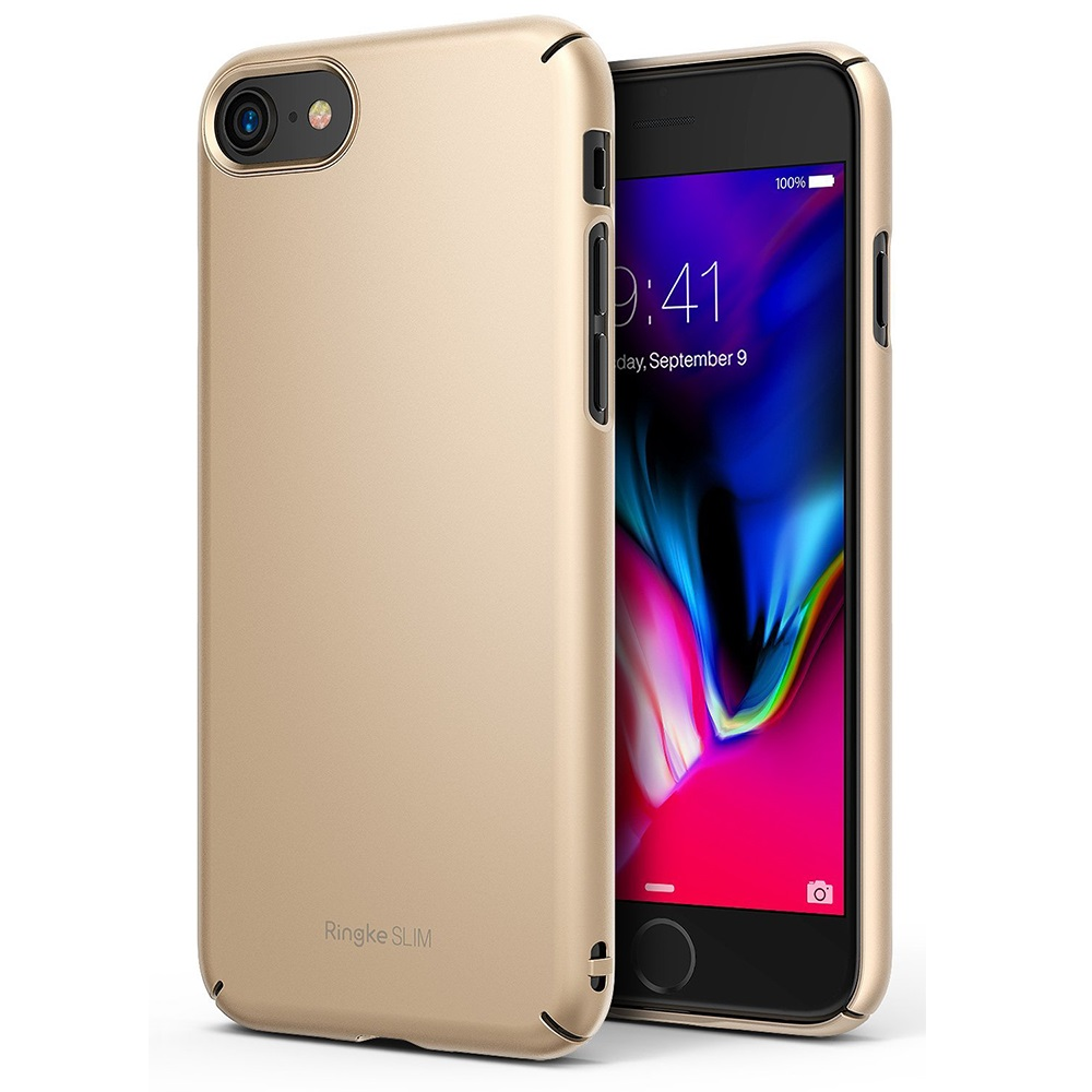 [Ringke] Apple iPhone 8 / 7 Case, [SLIM] Lightweight Thin PC Hard Shell Snug-Fit Protection Cover [Royal Gold]