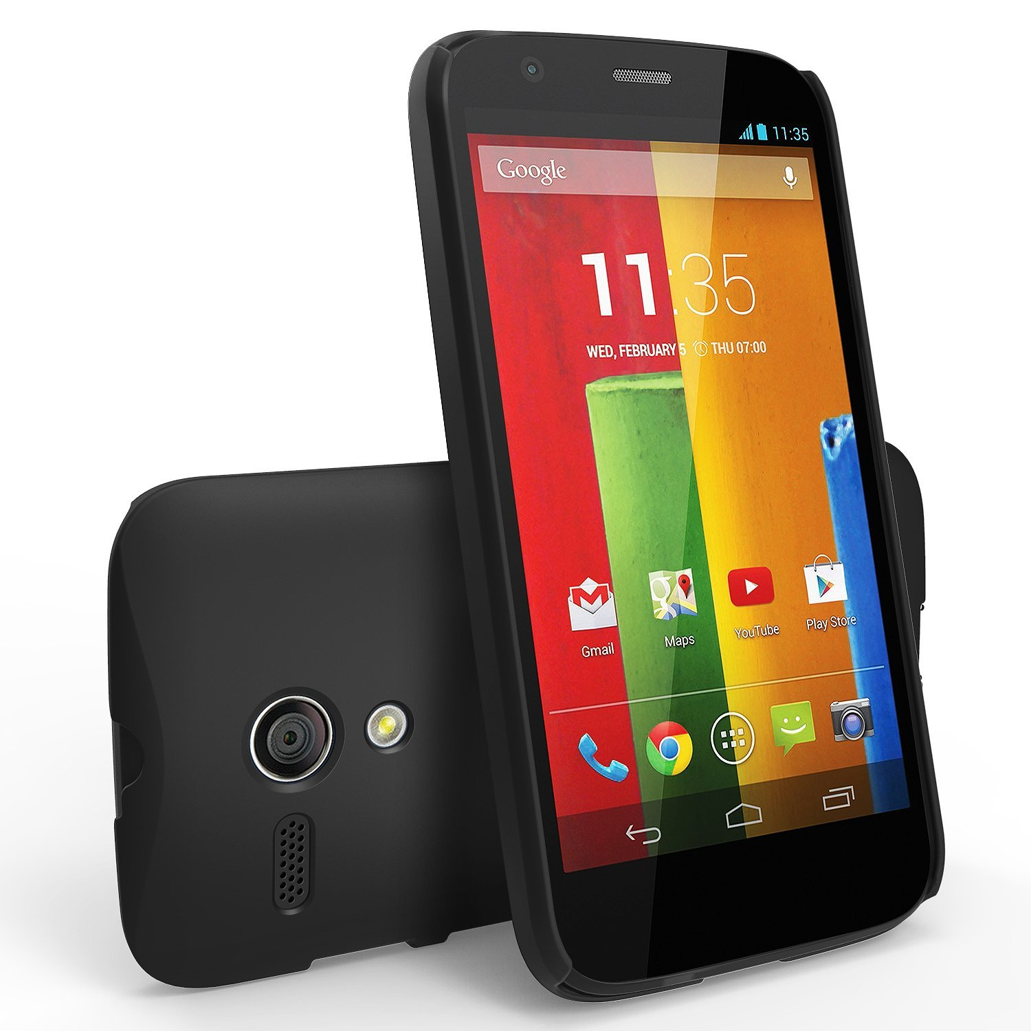 Ringke Black SLIM Series Dual Coating Perfect Grip Hard Case for Motorola Moto G