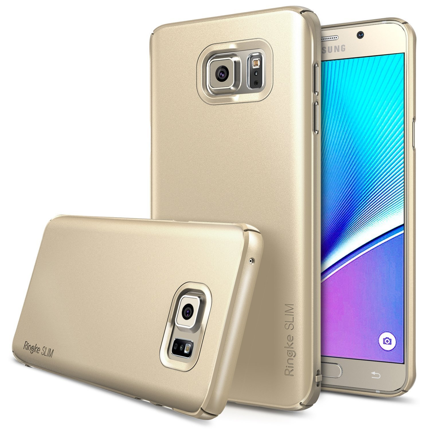 Samsung Galaxy Note 5, Ringke [Royal Gold] SLIM Series Full Top/ Bottom Coverage Dual Coated Hard Case