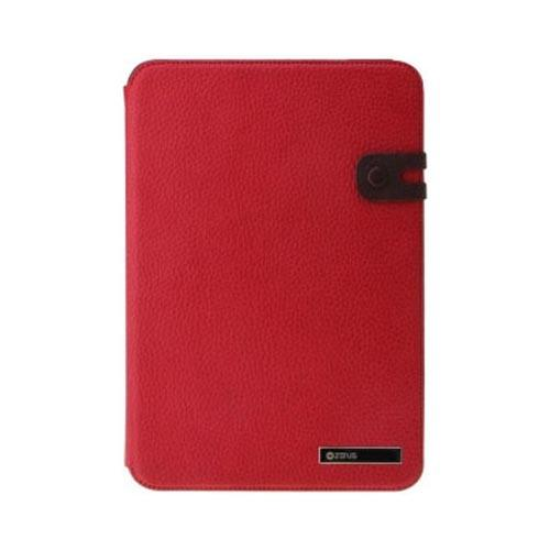 Original Zenus Samsung Galaxy Tab 8.9 Masstige Diary Series Leather Stand Case, SAG89-MLIFD-RD - Fierce Red w/ Dark Brown Interior