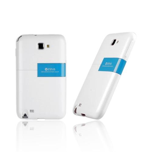 Original Zenus Samsung Galaxy Note Capsule Slide Series Hard Case w/ Kickstand, SAGXN-TS1SJ-WHBU - White/ Blue