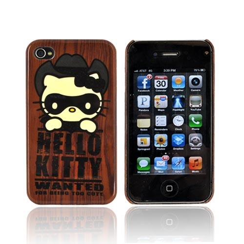 Original Hello Kitty AT&T/ Verizon Apple iPhone 4, iPhone 4S Hard Back Cover Case, SANCC0052 - Western Hello Kitty on Brown
