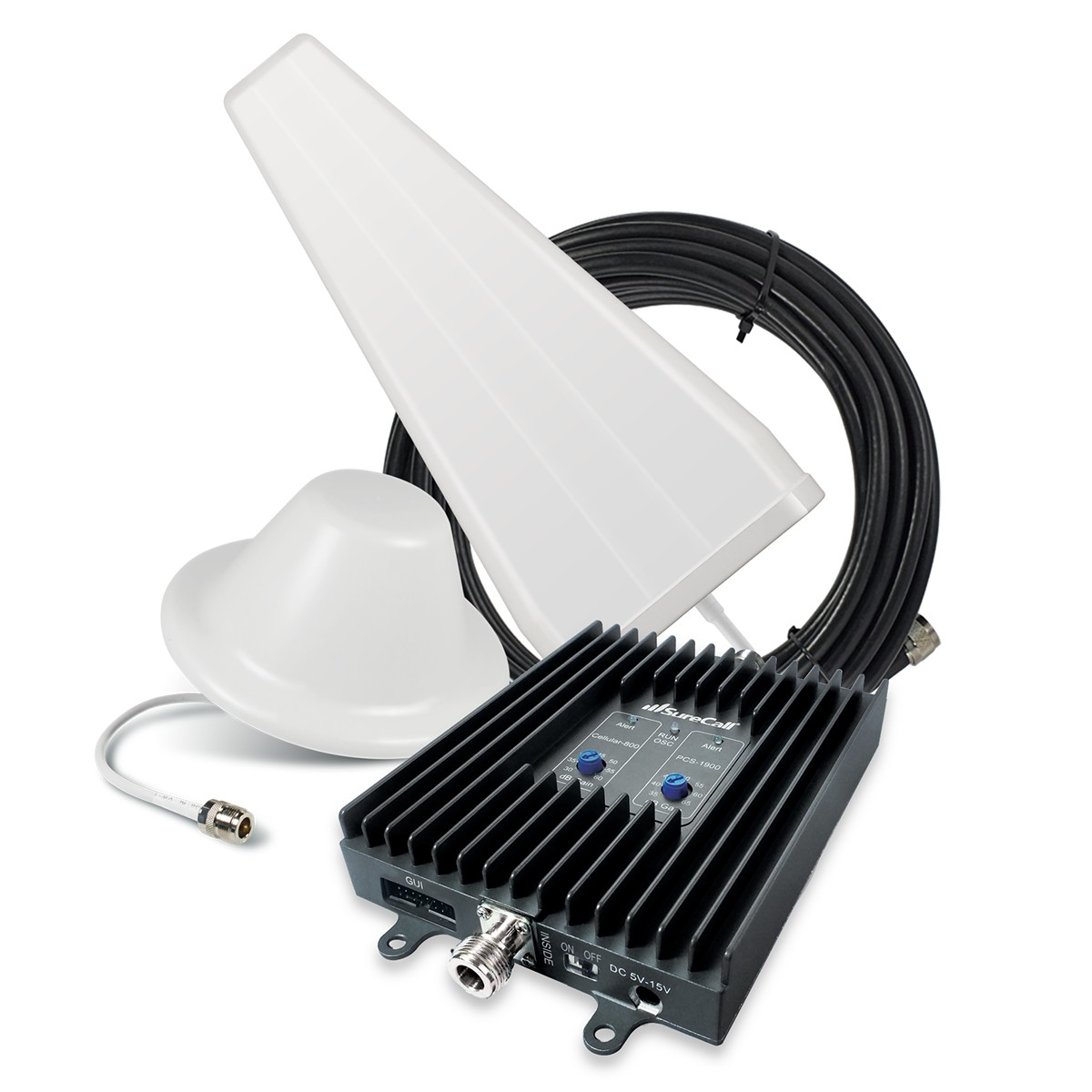 SureCall [FlexPro] Voice & Text Cell Phone Signal Booster Yagi/ Dome Kit [Homes up to 6,000 sq ft]