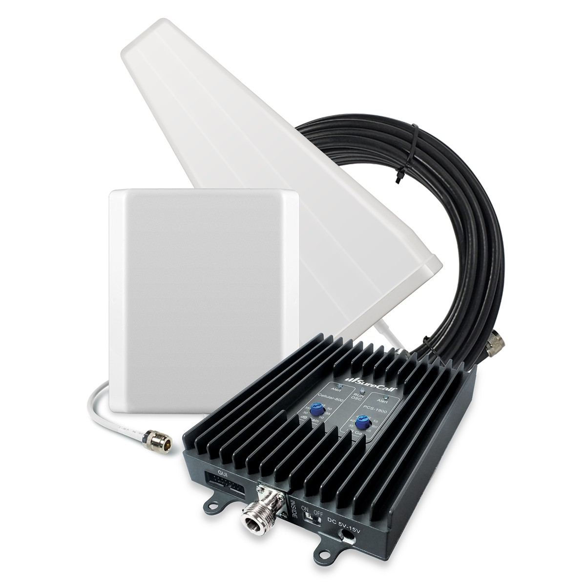 SureCall [FlexPro] Voice & Text Cell Phone Signal Booster Yagi/ Panel Kit [Homes up to 6,000 sq ft]