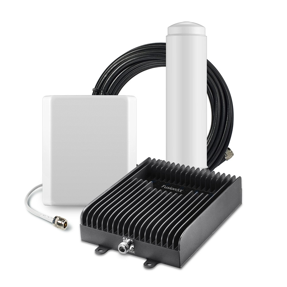 SureCall [Fusion5X] Voice, Text & 4G LTE Cell Phone Signal Booster Omni/ Panel Kit [Large Buildings up to 20,000 sq ft]