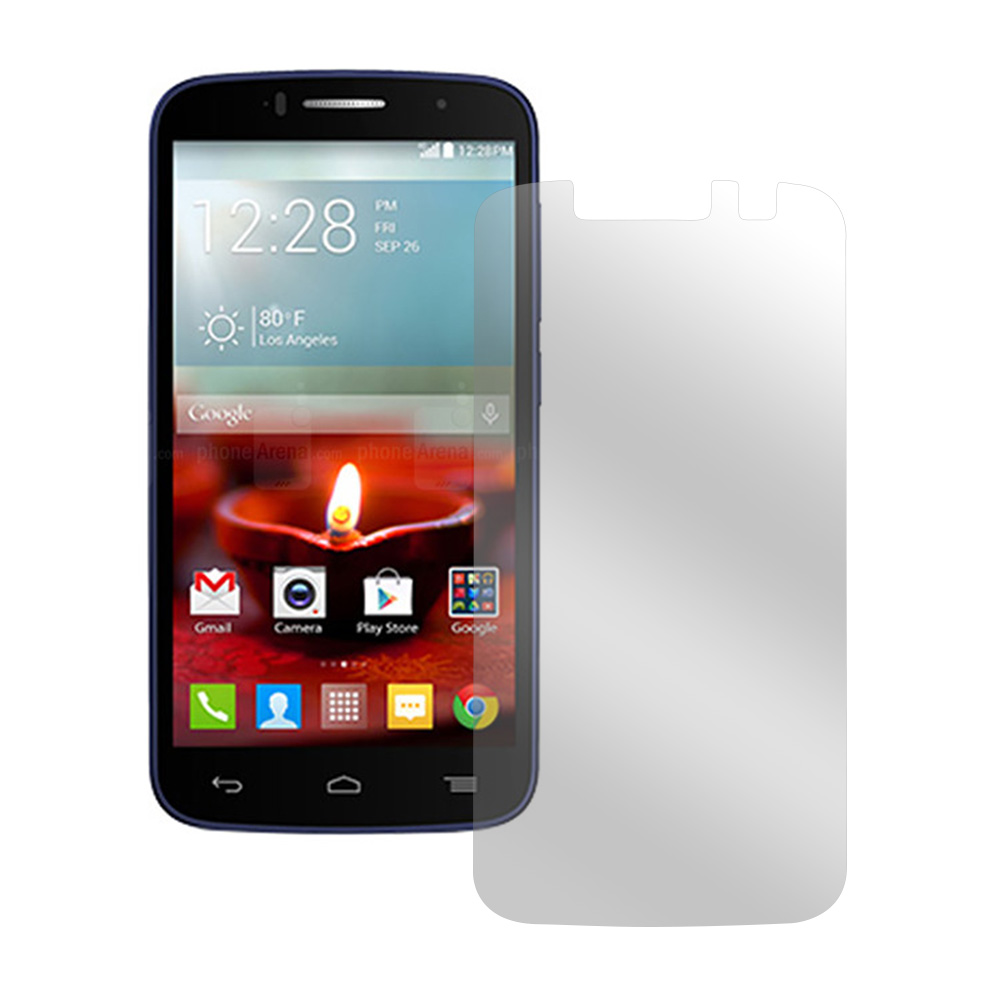 Clear Alcatel One Touch Fierce 2 Anti-Glare Touch Screen Protector - Great Way To Prevent Glare!