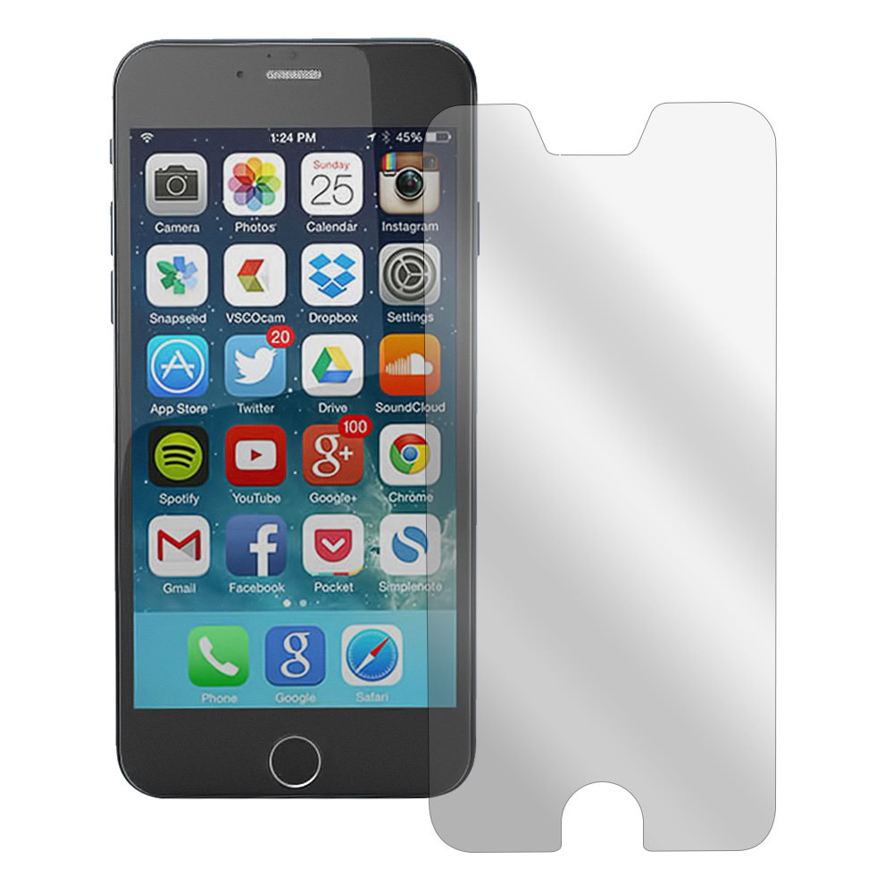 Clear Anti-Glare Touch Screen Protector Made for iPhone 6 (4.7 inch) - Great Way To Prevent Glare!
