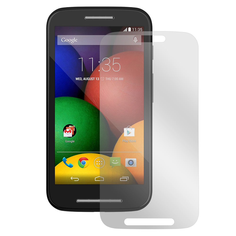 Clear Motorola Moto E Anti-Glare Touch Screen Protector - Great Way To Prevent Glare!