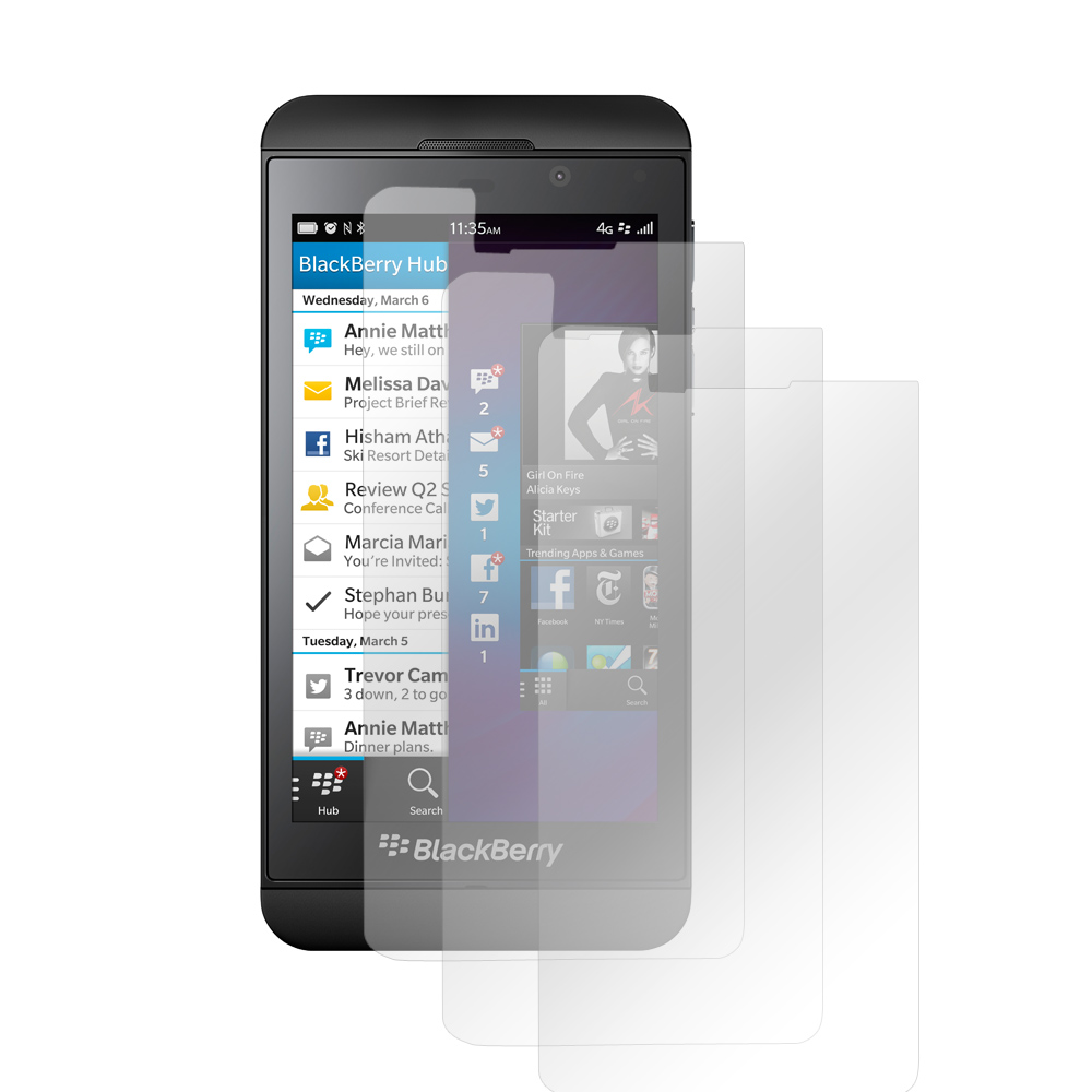 Clear Premium Anti-Shock 3-Pack Screen Protectors for Blackberry Z10
