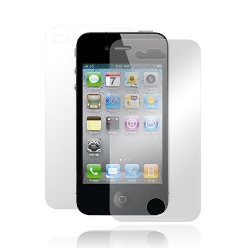 AT&T/Verizon Apple iPhone 4, iPhone 4S Front and Back Screen Protector w/ Mirror Effect