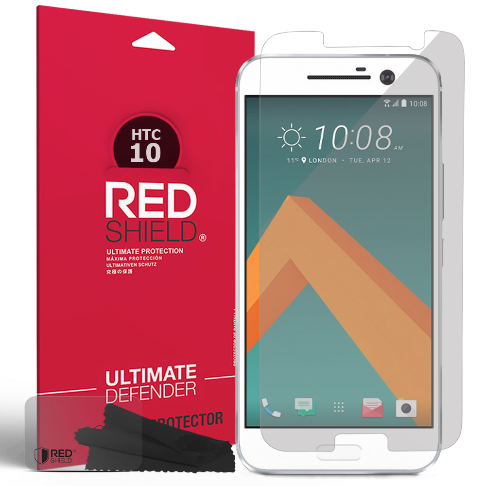 HTC 10 Screen Protector, REDshield [Crystal Clear] HD Ultra Thin Scratch Resistant, Bubble Free, Protective Screen Guard Film