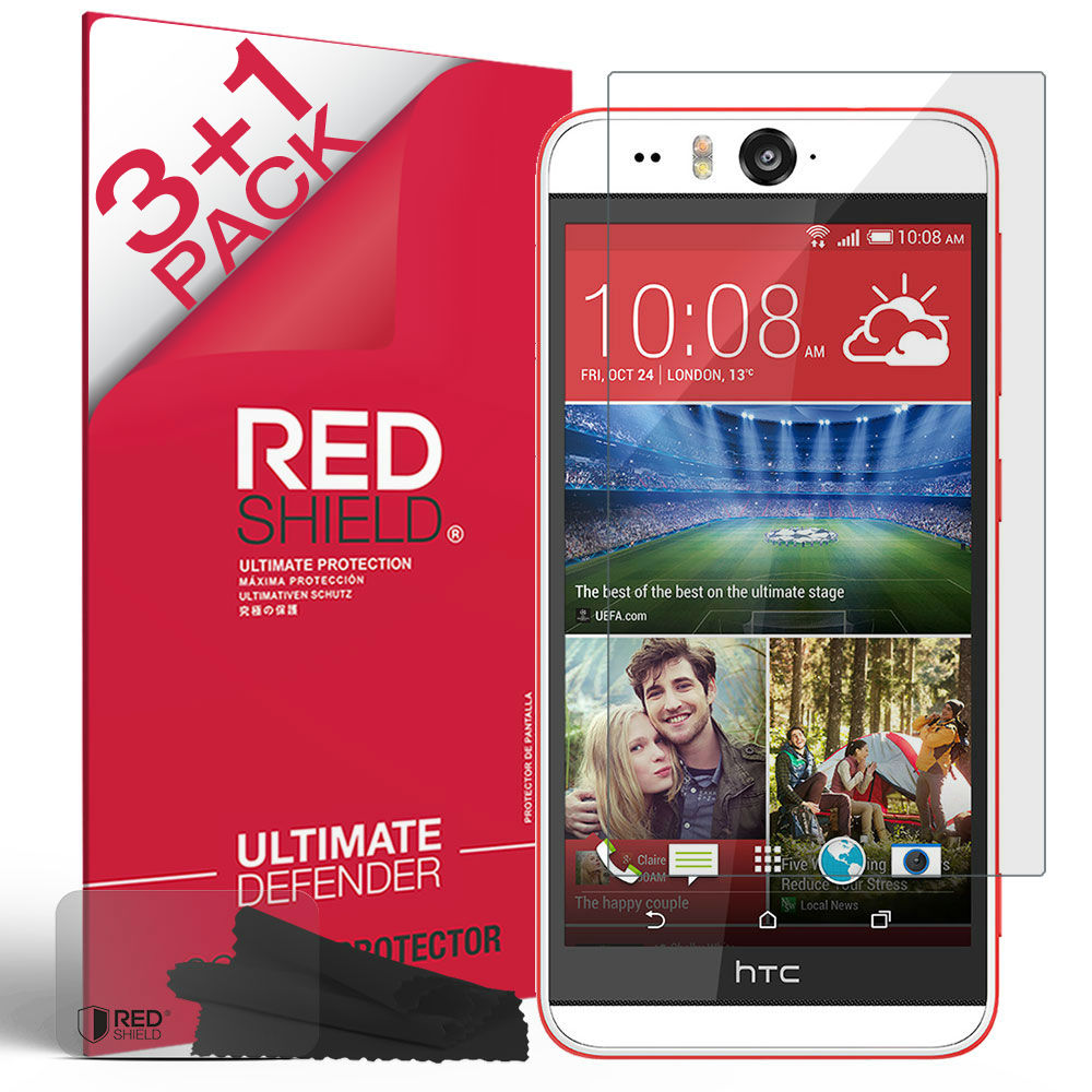 [3+1 Pack] HTC Desire Eye 2014 Screen Protector, REDshield [Clear] HD Ultra Thin Scratch Resistant, Bubble Free, Protective Screen Guard Film for HTC Desire Eye 2014