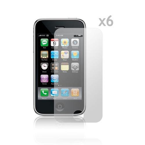 Premium Apple iPhone 3G/3Gs High Quality Screen Protector (6 Pack)