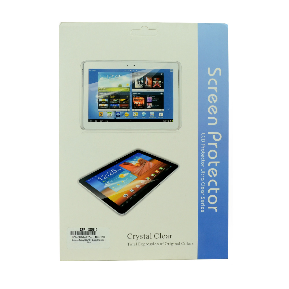 Samsung Galaxy Note 10.1 Screen Protector - Clear