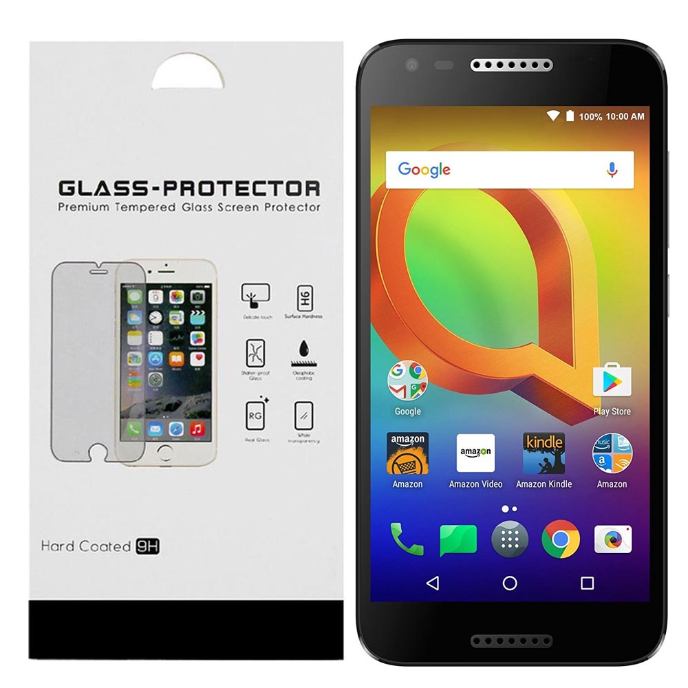 Alcatel A30 Tempered Screen Protector, REDShield [Tempered Glass] Ultimate Impact-Resistant Protective Screen Protector