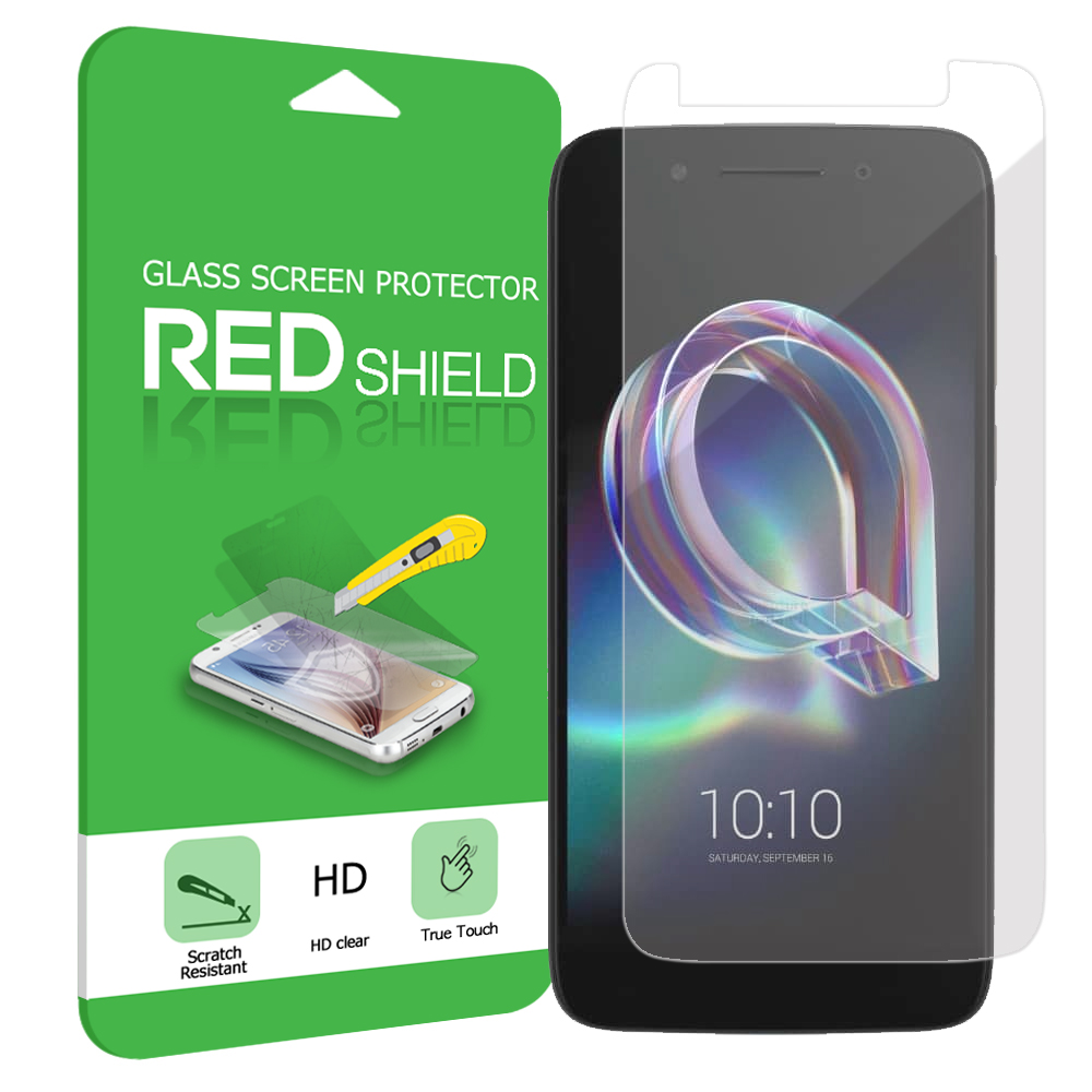Alcatel Idol 5 Screen Protector, [Tempered Glass] Ultimate Tempered Glass Impact-Resistant Protective Screen Protector