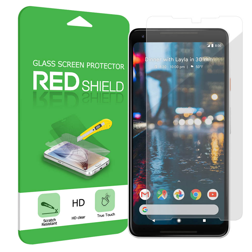 Google Pixel XL 2 Screen Protector, [Tempered Glass] Ultimate Tempered Glass Impact-Resistant Protective Screen Protector