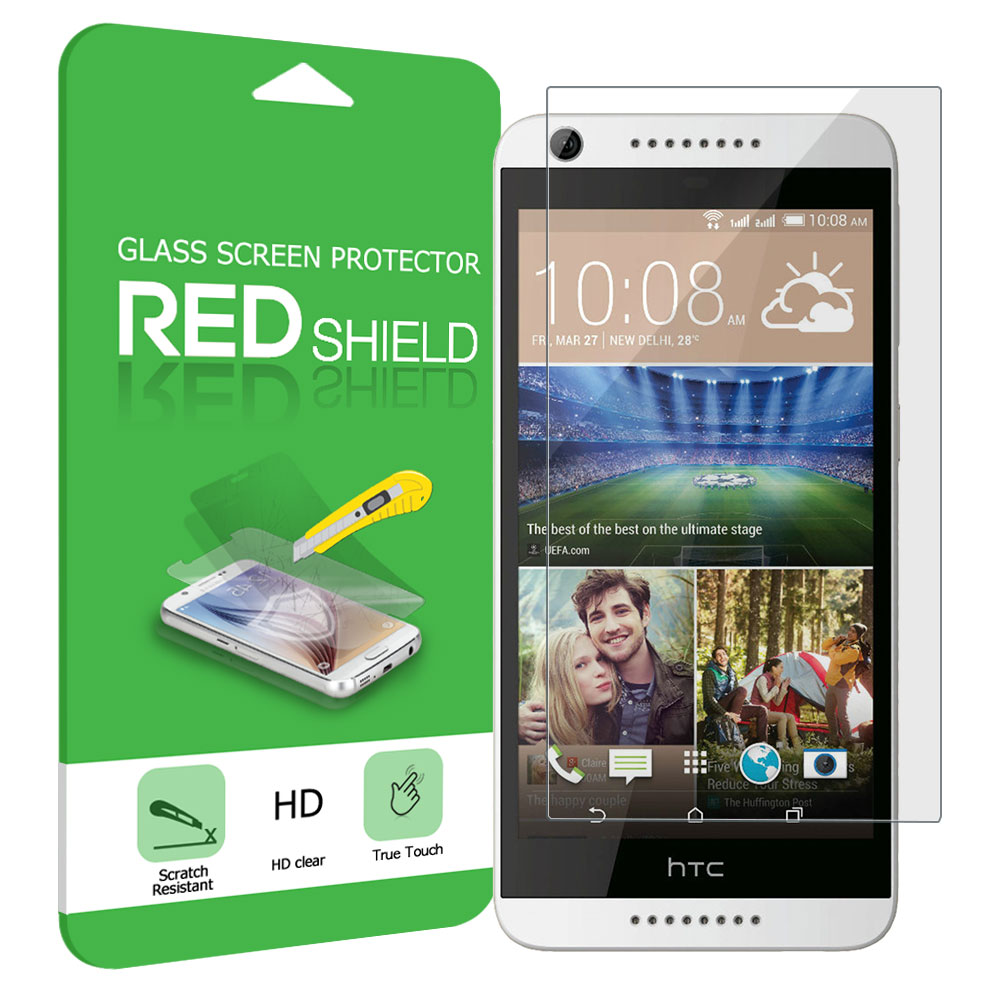 HTC Desire 626 Screen Protector, Premium HD Protective [Tempered Glass] Screen Protector Guard