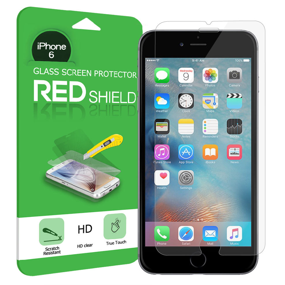 Made for Apple iPhone 6/ 6S Screen Protector, [Tempered Glass] Ultimate Impact-Resistant Protective Screen Protector by Redshield
