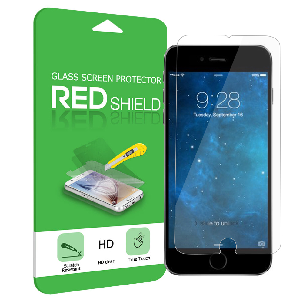 Apple iPhone 6 PLUS/6S PLUS (5.5 inch) Screen Protector, REDshield [Tempered Glass] Ultimate Impact-Resistant Protective Screen Protector