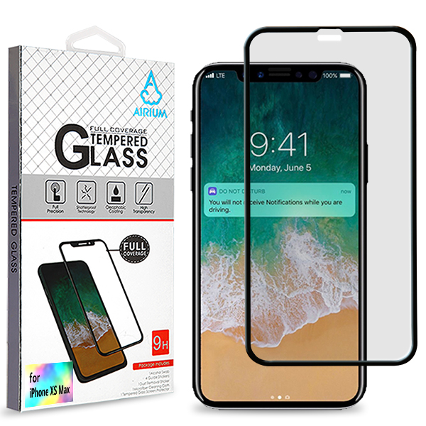 Apple iPhone XS Max (2018) Screen Protector, Clear & Black Edge [Tempered Glass] Ultimate Tempered Glass Impact-Resistant Protective Screen Protector