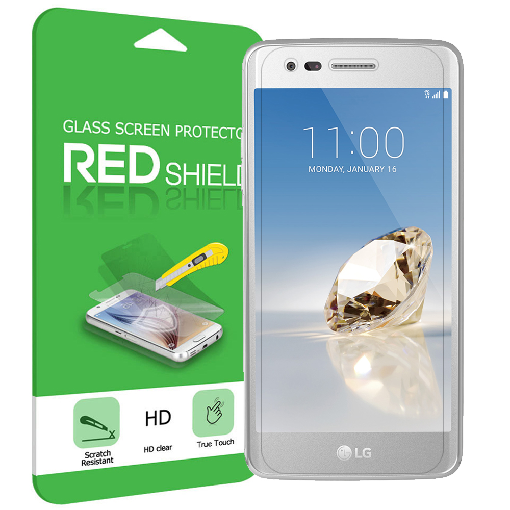 LG Aristo/ Fortune Screen Protector, [Tempered Glass] Ultimate Tempered Glass Impact-Resistant Protective Screen Protector [Does Not Cover Edges]
