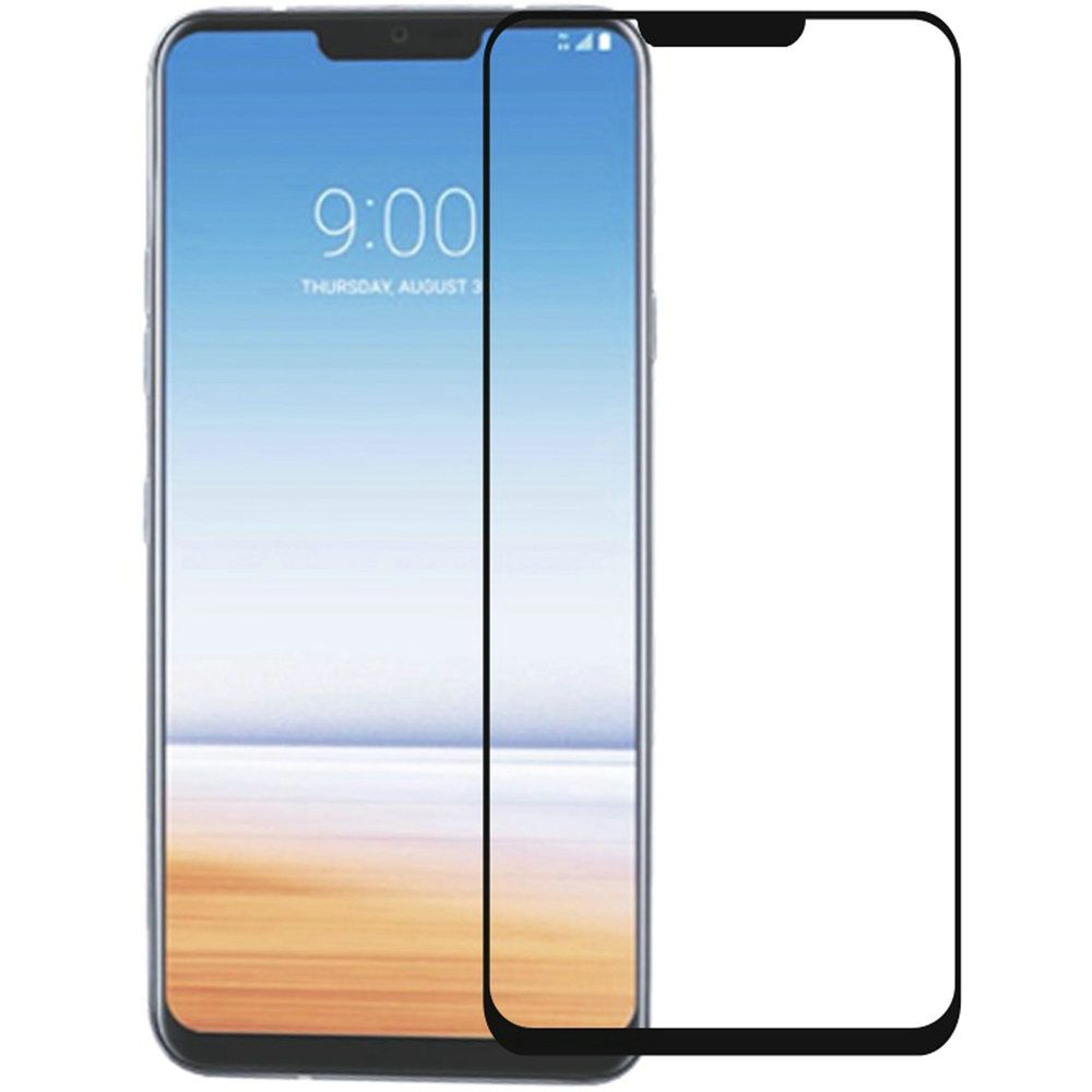 LG G7 Screen Protector [Tempered Glass] Clear & Black Edge. Ultimate Tempered Glass Impact-Resistant Protective Screen Protector.