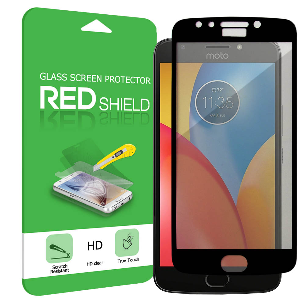Motorola Moto E4 PLUS Screen Protector, [Tempered Glass] Premium Tempered Glass Screen Protector [Black]