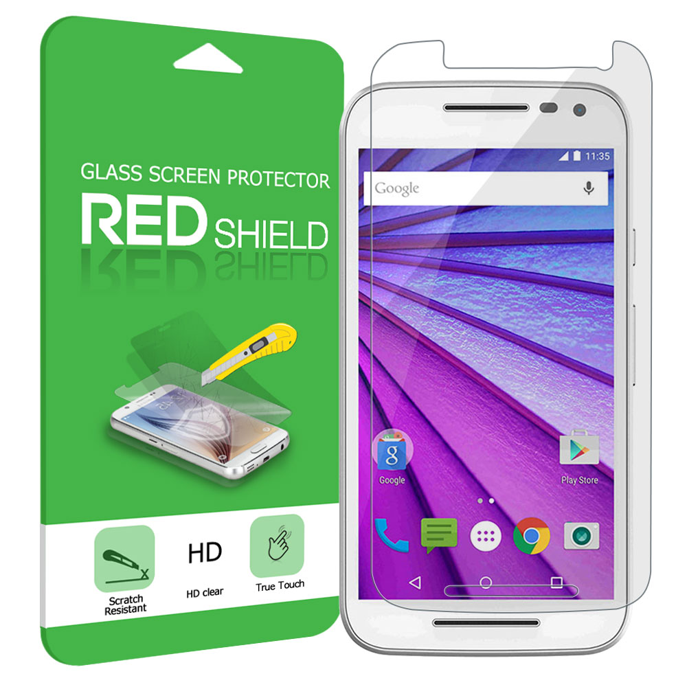 Motorola Moto G 2015 Screen Protector, Premium [Tempered Glass] HD Protective Screen Protector Guard