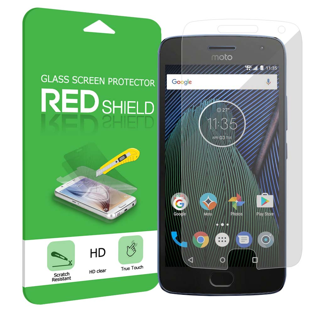 Motorola Moto G5 Plus Screen Protector, [Tempered Glass] Ultimate Tempered Glass Impact-Resistant Protective Screen Protector