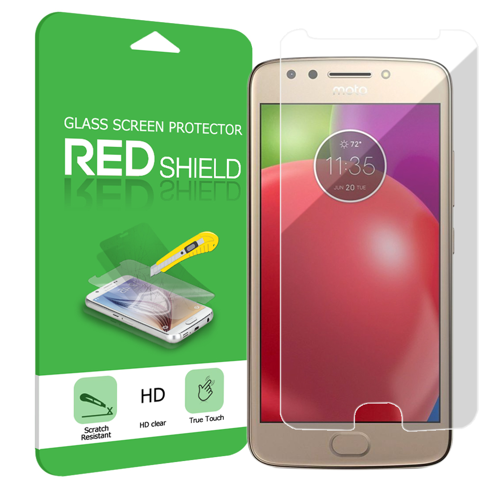 Motorola Moto E4 Screen Protector, [Tempered Glass] Ultimate Tempered Glass Impact-Resistant Protective Screen Protector