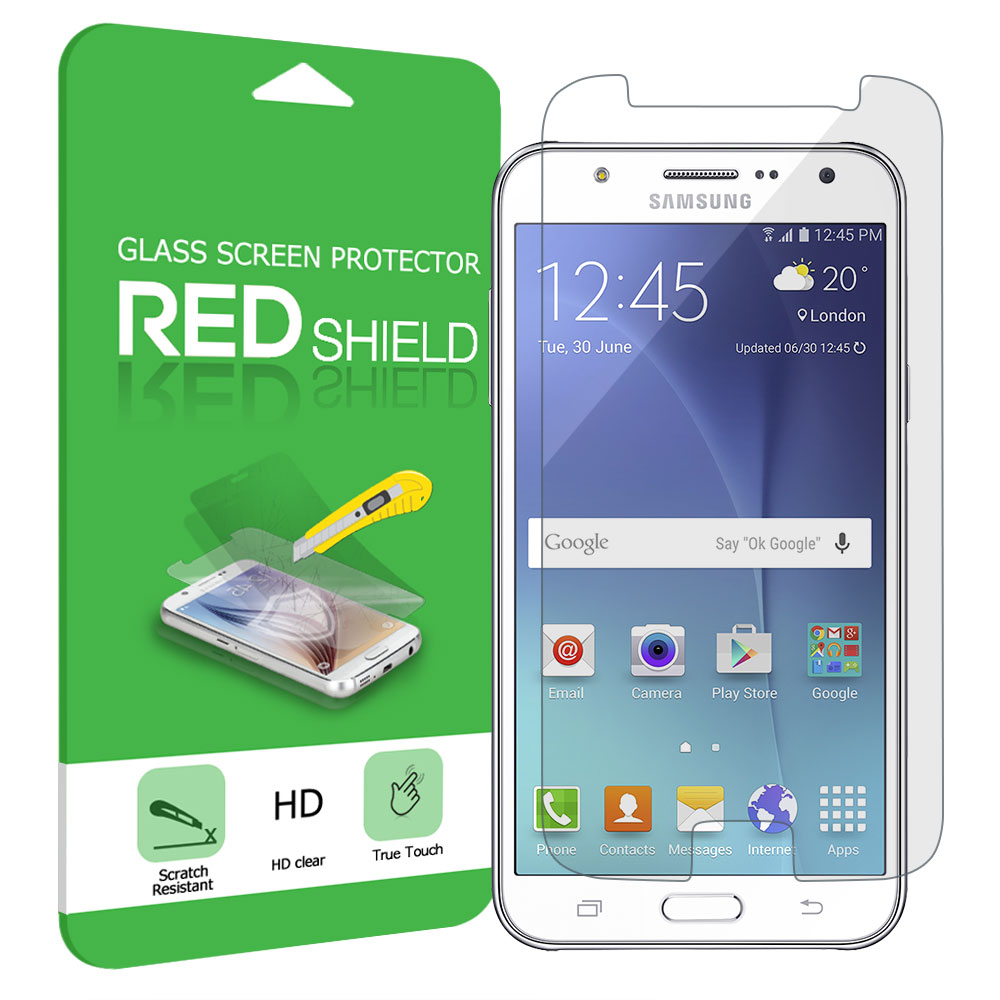 Samsung Galaxy J7 (2015) Screen Protector, REDshield [Tempered Glass] Ultimate Tempered Glass Impact-Resistant Protective Screen Protector for Samsung Galaxy J7 (2015)