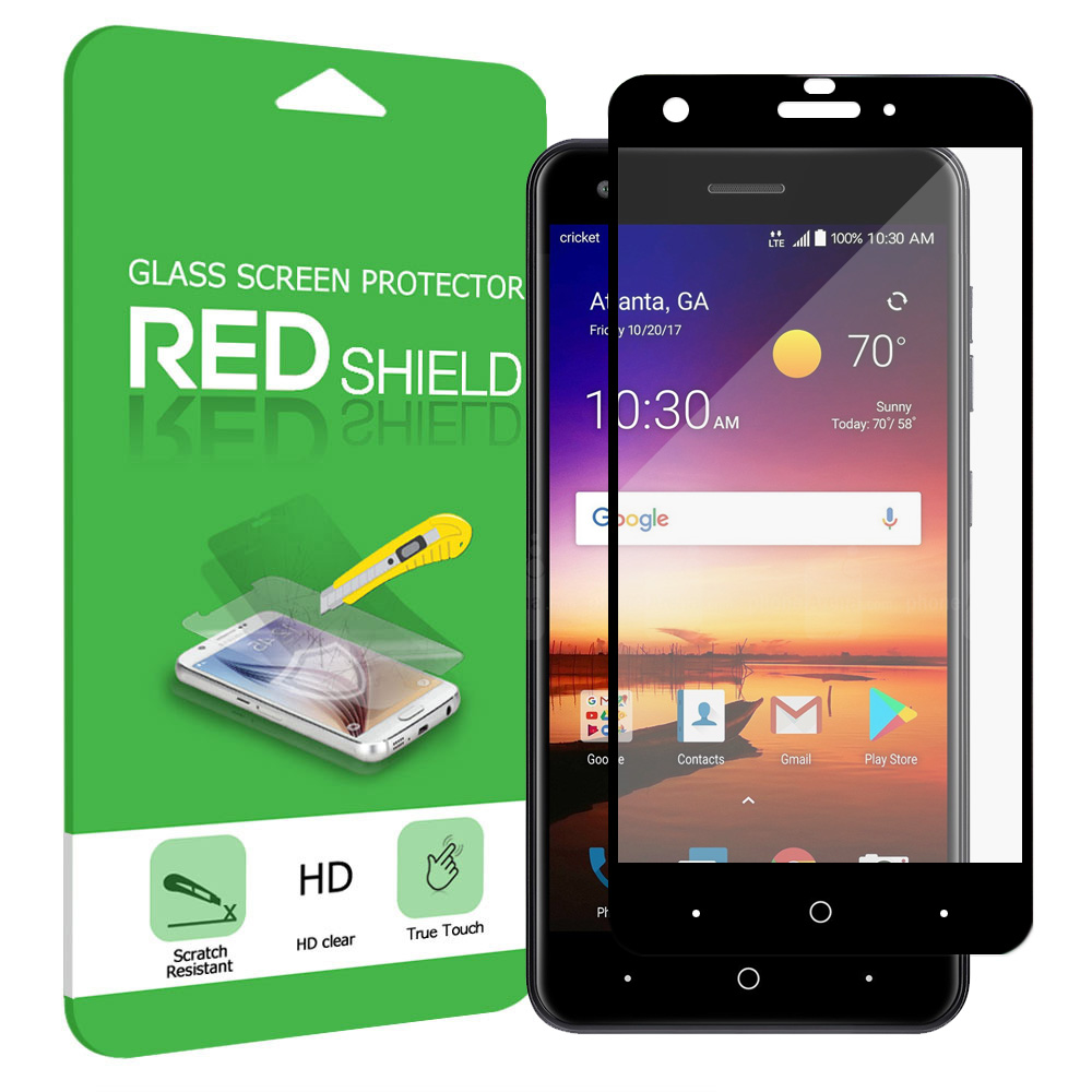 ZTE Blade X Screen Protector, [Tempered Glass] Premium Tempered Glass Screen Protector [Black]