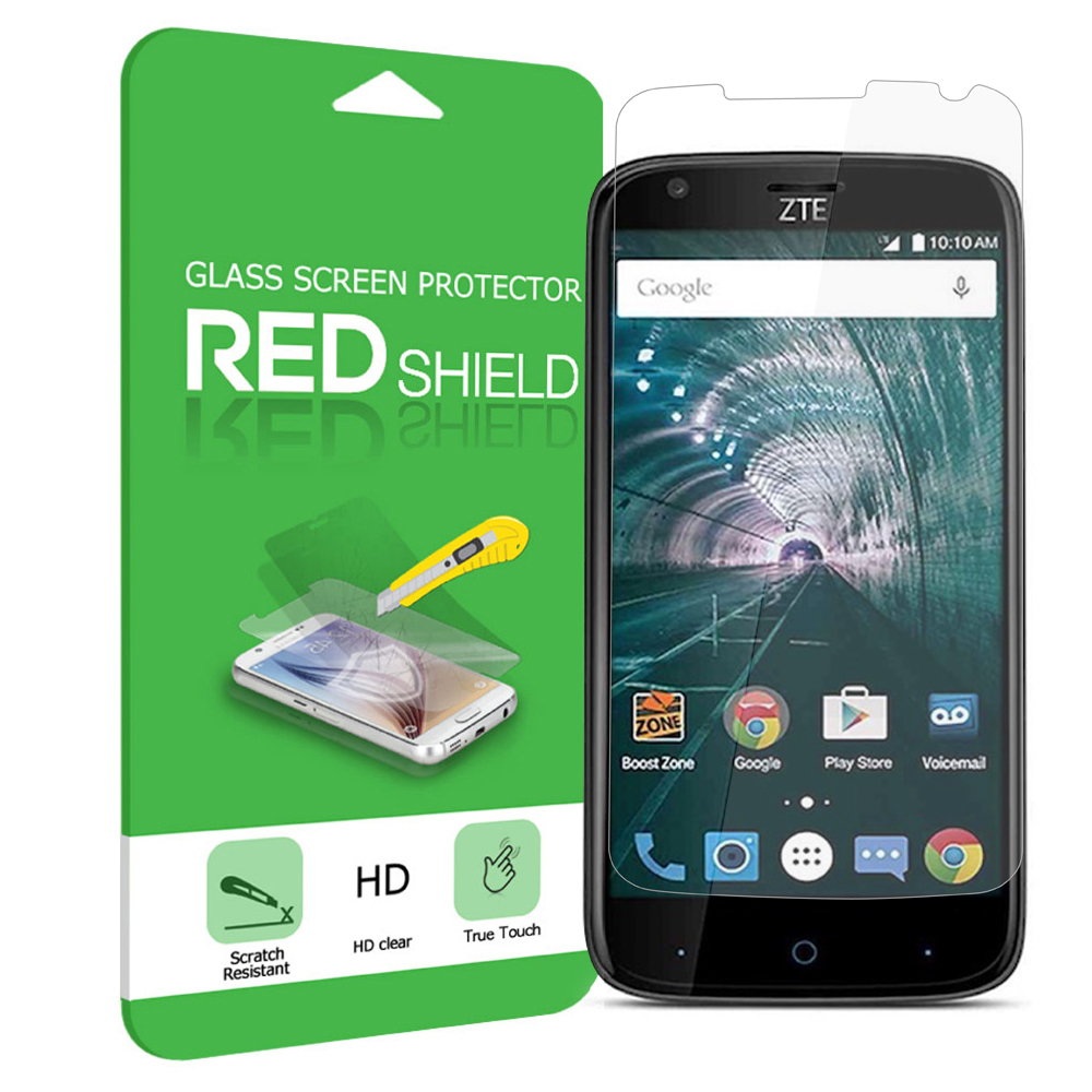 [ZTE Warp 7] Screen Protector, [Tempered Glass] Ultimate Tempered Glass Impact-Resistant Protective Screen Protector [Does Not Cover Edges]
