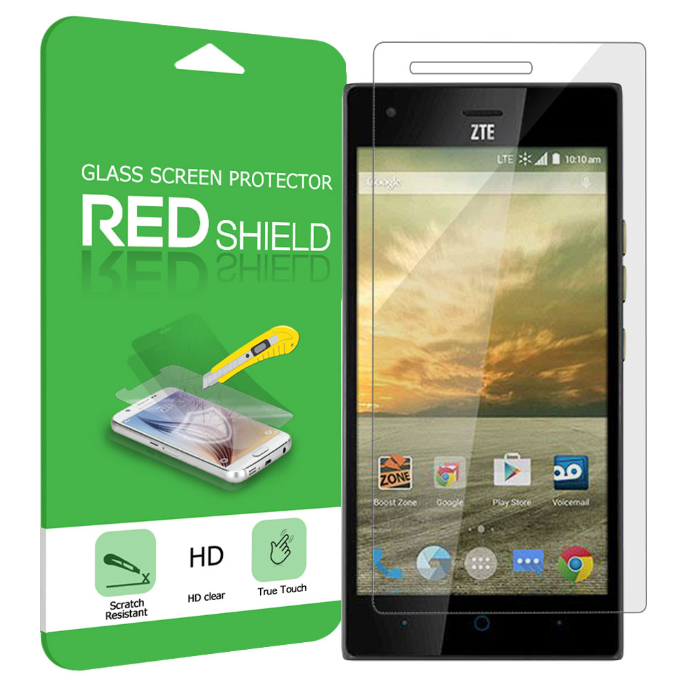 ZTE Warp Elite Screen Protector, Premium [Tempered Glass] HD Protective Screen Protector Guard