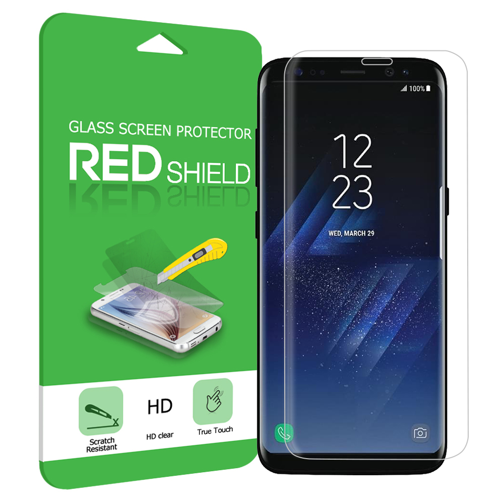 Samsung Galaxy S8 Plus Tempered Glass, Anti-shock Screen Protector Full Coverage, Edge to Edge!