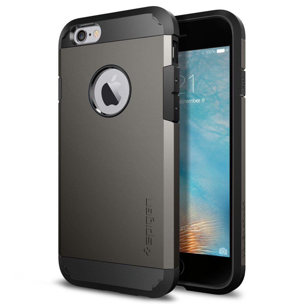 Apple iPhone 6/6S Case, Spigen [Extreme Protection] Tough Armor Case w/ Air Cushion Technology [Gunmetal]