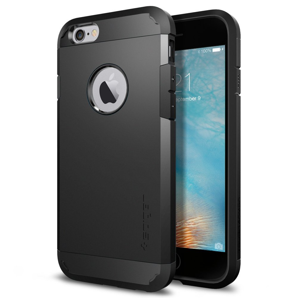 Apple iPhone 6/6S Case, Spigen [Extreme Protection] Tough Armor Case w/ Air Cushion Technology [Black]